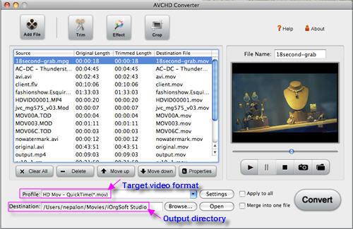 Convert AVCHD to Mac Snow Leopard